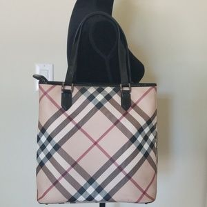 Authentic Burberry Nova Check Canvas Large Tote